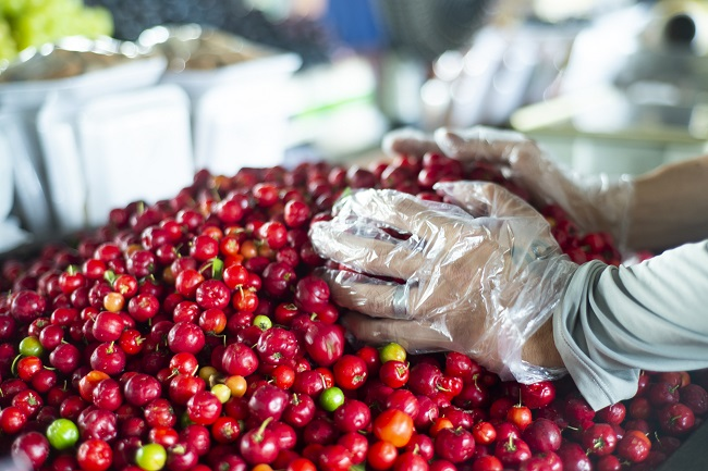 Acerola vendida a R$ 2,00/kg na Ceasa Cariri